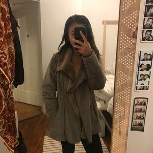 prana faux suede coat Lilith coat